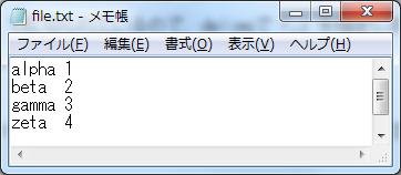for文(繰り返し処理) sample_4.batにおけるfile.txtの内容