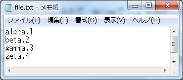 for文(繰り返し処理) sample_5.batにおけるfile.txtの内容