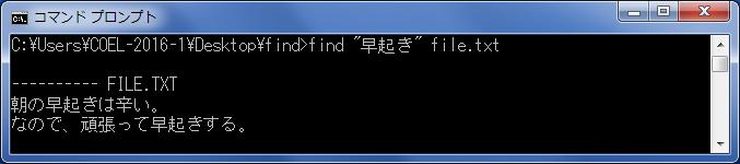 find(ファイル内の指定文字列の検索) findコマンドの実行